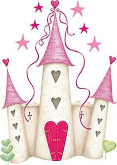 Dream castle PNG and Clipart Diy And Crafts, Crafts For Kids, Paper Crafts, Princess Castle, Pink Castle, Cute Clipart, Baby Set, Cute Images, Digi Stamps