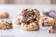 These Coconut Flour Chocolate Chip Cookies are ready in just 20 minutes and they are SO gooey, thick, and delicious. They're Paleo, vegan, and nut-free.
