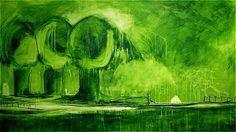 Hier sehen Sie einige Bilder, die ich bereits gemalt habe. Meist Wandbilder in xl oder xxl. Auftragsmalerei, Bilderverleih und Gemäldeverkauf sind möglich. Mehr Infos unter: www.wachsmannbilder.de  frühlingserwachen -  160 x 100 cm - verkauft