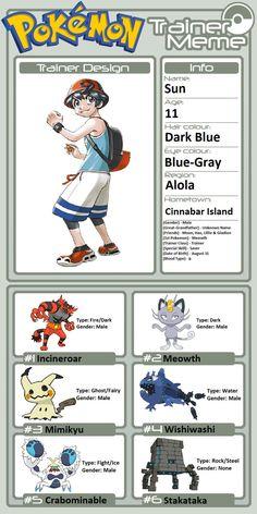 Pokemon Meowth, Pokemon Oc, Pokemon Games, Lance Pokemon, Blue Eye Color, Dark Blue Eyes, Male Gender, Types Of Fairies, Eevee Evolutions