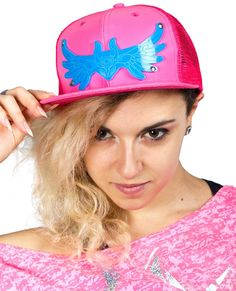 Snap back cap featuring our iconic Guardian Angel in perspex!