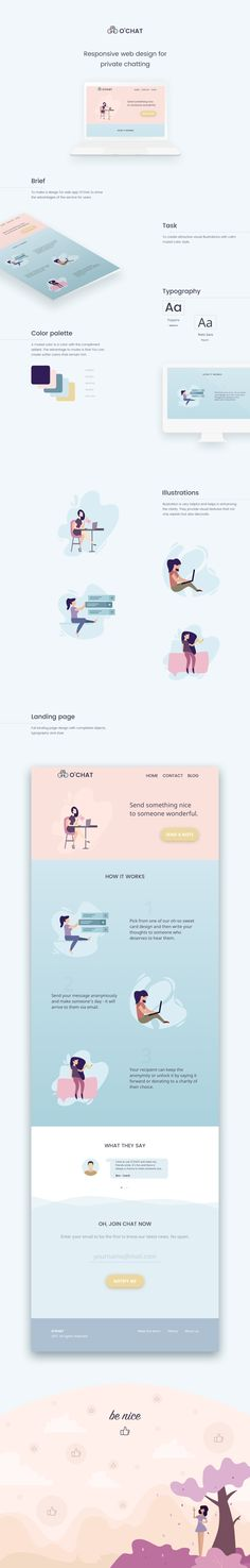 O'Chat Landing page