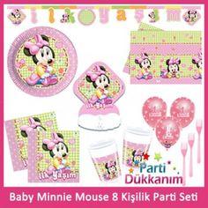 1 Yaş Minnie Mouse 8 Kişilik Parti Seti
