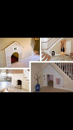 Best dog house idea! Under the stairs :) I dunno about the dog, my kids would love this themselves!