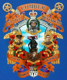 Comber Ulster Defenders Loyal Orange Lodge No.100 Tattoo Sleeves, Sleeve Tattoos, Orange Order, Belfast Northern Ireland, Faith Tattoos, Space Drawings, King William, Lest We Forget, Wwi