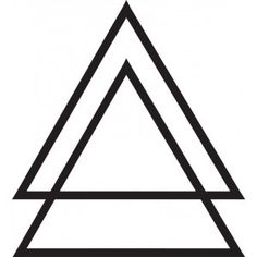 Double triangle / Black Tattoos / Ink - I'd like this with another one under it, flipped over: