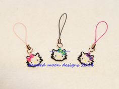 purse charms ~ https://www.facebook.com/pages/Beaded-Moon-Designs/229870373249