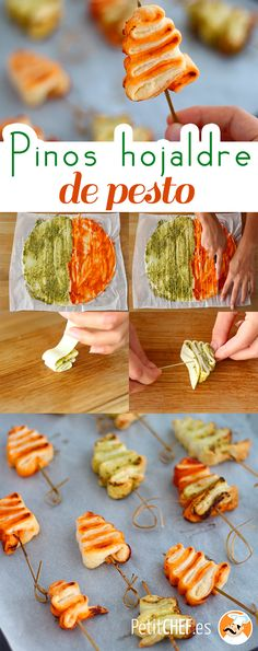 Sapins feuilletés au pesto, Recette Ptitchef - Expolore the best and the special ideas about Healthy recipes Good Healthy Recipes, Snack Recipes, Dinner Recipes, Dinner Entrees, Fingers Food, Cooking For Two, Pesto Recipe, Puff Recipe, Appetizers For Party