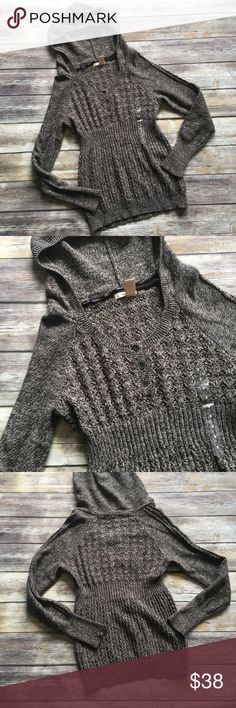 """✳️SALE✳️NWOT DKNY Jeans Hoodie Sweater NWOT DKNY Jeans Hoodie Sweater. Has beautiful details on the bust and back area. Measures from pit to pit 18""""/ front length 26""""/ back length 28"""". DKNY Sweaters"""