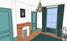 Appartement vintage sans refaire les sols ni peindre les murs.