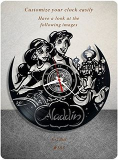#birthday_gift #home_decorating_ideas #home_decor #holiday_gift #holiday_present #disney #aladdin #vinyl_clock #kids_present #disney_vinyl_clock #disney_record_clock #disney_vinyl_record_clock