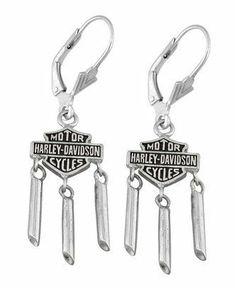 166191d60 Keep flaunting that Harley® pride with these 'Tailpipes' Earrings made by  MOD® Jewelry exclusively for Harley-Davidson®! Made entirely of pure  sterling ...