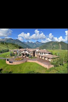 huge house in the mountains