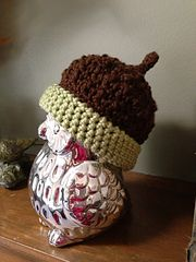 FREE on Ravelry: Autumn Acorn Hat pattern by Autumn Hopkins. Add an oak leaf.