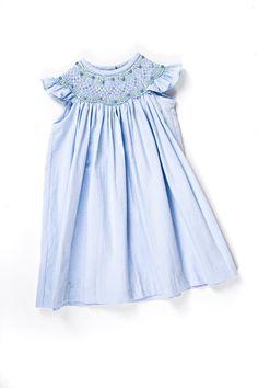 Newborn Smocked Layette Gown