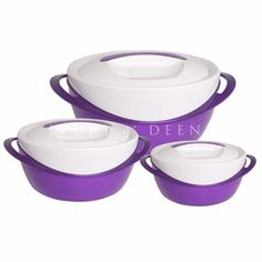Purple Thermoserver Set - Stainless Steel Insulated Food Bowls