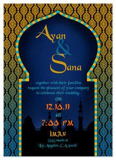 wedding invitations - Arabian Nights Wedding Invitation by Ink it Pink
