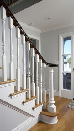 Bannister Red Oak Design, Pictures, Remodel, Decor and Ideas