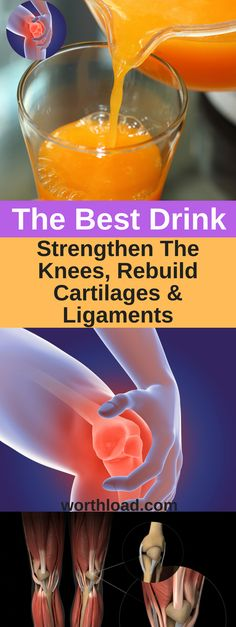The Best Drink to Strengthen the Knees To Avoid Knee Pain and Rebuild Cartilages and Ligaments – Natural Healing Education Natural Cure For Arthritis, Types Of Arthritis, Natural Cures, Natural Healing, Natural Health Remedies, Fitness Workouts, Health And Wellness, Health Tips, Health Benefits