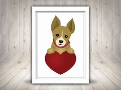 Cute dog Clipart Puppy Clipart Printable Cute puppy Cute Puppies, Cute Dogs, Puppy Clipart, Cute Illustration, Digital Prints, Clip Art, Printables, Illustrations, Unique Jewelry
