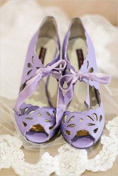 0b2ac863de Lavender cut out pumps Purple Wedding Shoes