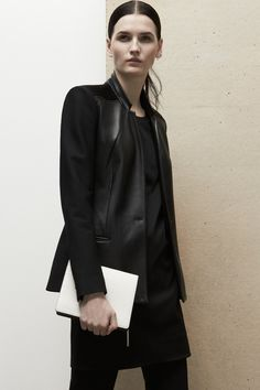 Do you believe in love at first sight? Well, I do. When I initially laid my eyes on the opening look of Helmut Lang Pre-Fall 2014, I told myself: I need to feature this.