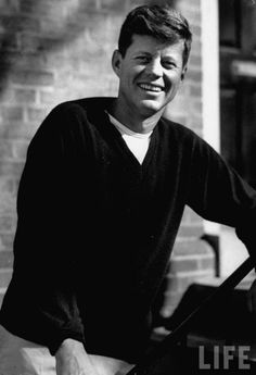 """Oh my God young Kennedy in a sweater what even. (""""Young Senator JFK"""")"""