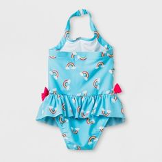 5c3e1894051fb Toddler Girls  Rainbow Print One Piece Swimsuit - Cat   Jack Blue 5T