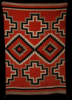 "1900s Navajo Blanket ""Rumble Seat Music Trading Post: Native American Art, Textiles, and Boots"