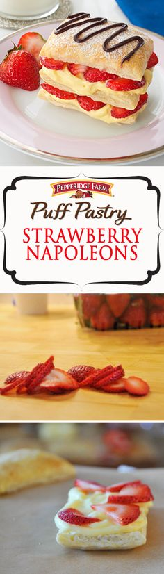 This sweet treat is impressively easy with layers of vanilla pudding and strawberries between pillows of flaky Puff Pastry!