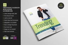 cool Magazine LookBook Template 12  CreativeWork247 - Fonts, Graphics, Them...