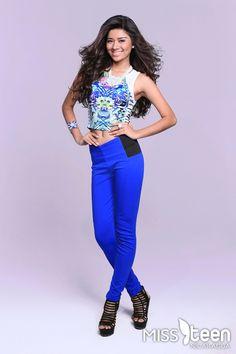 Ella es Epifania Solís, candidata a #MissTeenNica 2015. Tiene 16 años y representa a Managua.