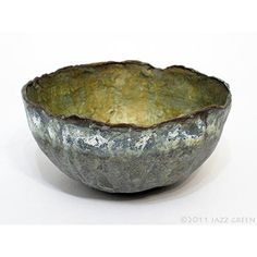 Jazz Green : Works on Paper : papier mache bowls
