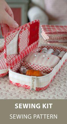 PDF Sewing Pattern, Sewing Tutorial, Travel Sewing Kit Pattern, Sewing Organizer Pattern, Sewing Tools Case Pattern #sewingkit #organizer #sewingpattern #etsy #etsyfinds