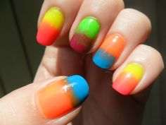 A neon gradient perfect for the summer sun!