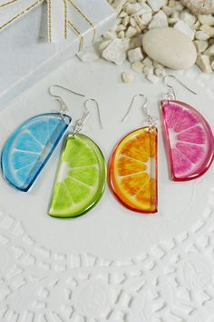 #Mistmached_earrings #Colorful_earrings #Tropical_earrings Summer #Beach_jewelry Earrings, Funny Transparent Hippie Silver Earrings, Bohemian #Food_earrings #Mix_and_match #Fruit_earrings Golden Earrings, Wing Earrings, Butterfly Earrings, Small Earrings, Etsy Earrings, Silver Earrings, Colorful Fruit, Christmas Gifts For Her, Shopping Center