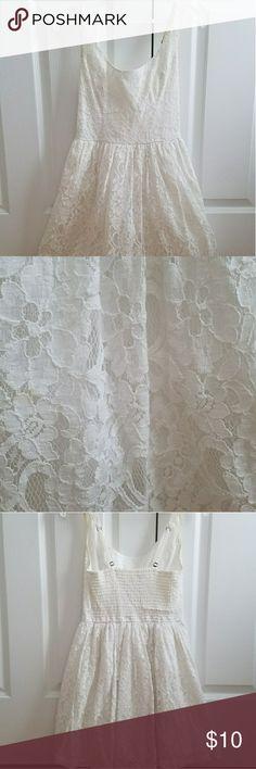 Hollister Dress A-line white lace dress Hollister Dresses Midi