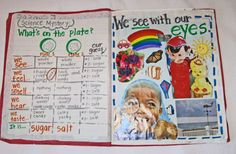 Class Five Senses Book (made up of anchor charts they did together throughout the unit)