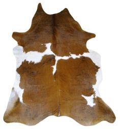 Cowhide Rug CH-1688 Brown and white + 1 FREE Cushion