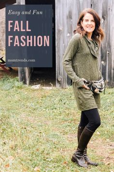 Thankfully her chic style doesn't come at unattainable prices here's an everyday knit dress for fall. #fall #style Fall Fashion Trends, Autumn Fashion, Knit Dress, Bag Making, Comebacks, Fall Outfits, Chic, House Styles, Boots