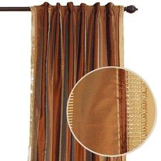 Roshni Earthtone Back Tab Curtain - Home Depot