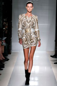 Balmain Spring 2012 RTW - Review - Fashion Week - Runway, Fashion Shows and Collections - Vogue