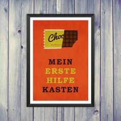 Digitaldruck Mein Erste Hilfe Kasten, Poster // art print via DaWanda.com