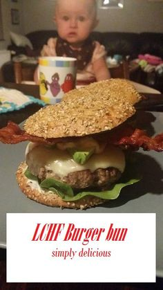 Simply delicious LCHF burgerbun. To see the recipe go to my blog at www.pennnylane.dk lowcarb, lchf, healthy food, pcos , homemade, healthy burger, lowcarb bread, cooking
