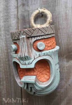 Idol WallHangoer #1 - Handmade Tiki Mug by VanTiki