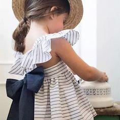 Super cute and cozy striped dress with complimentary bloomers!