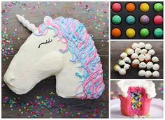This cute Unicorn cake is perfect for your little one's next birthday! Learn how to make Unicorn birthday cake. So fun to make!