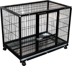 Rolling Portable Pet Kennel Training Crate https://dogcarseat.co/rolling-portable-pet-kennel-training-crate/