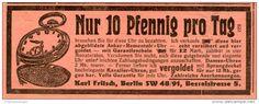 Original-Werbung/ Anzeige 1928 - ANKER - REMONTOIR UHR / FRITSCH BERLIN - ca 110 x 40 mm