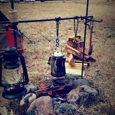 焚き火タイム  #キャンプ #焚き火 #焚き火ハンガー#野営 #河川敷 #那珂川